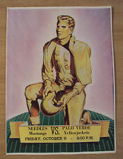 "VTG 1940's High School FOOTBALL Program~""NEEDLES MUSTANGS vs. PALO VERDE""~"