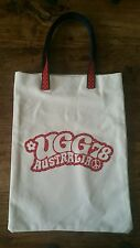 UGG AUSTRALIA TOTE SHOPPING GROCERY BAG. RETRO DESIGN PEACE SIGN. BRAND NEW