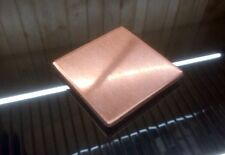 """1/8"""" COPPER SHEET PLATE NEW 2""""x2"""" .125 THICK"""