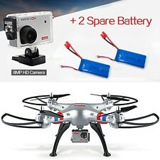 Syma X8G RC Drones Quadcopter w/ 8MP Like Gopro Camera Headless Mode+2 Battery