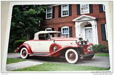 1932 Cadillac Roadster car print (creme & red,, white top)