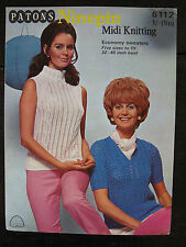 "Patons Knitting Pattern: Ladies Ninepin Sweaters, 32-40"", 6112"