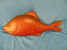 Vintage Red Fish wall hanging 1967 Sexton metal nautical decor beach cottage Art