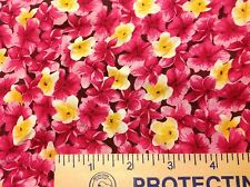 """Pink & Yellow tropical breeze by M'Liss Rae Hawley Fabric 3/4 yard = 27"""""""