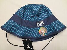 NIKE AIR JORDAN STENCIL BUCKET HAT ADULT 658386 410 UNISEX CAP SIZE LARGE XL