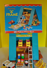 Vintage  Fisher Price Little People  A Frame House #990 with box 100% Complete