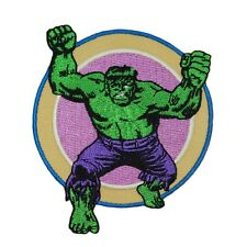 Retro Hulk Smash Patch Marvel Avengers Comic Book Superhero Iron-On Applique