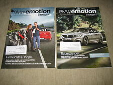 BMW emotion / Mini NDL Stuttgart Magazin Konvolut Prospekt Brochure von 2013
