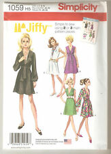 Simplicity Sewing Pattern 1059 Miss Vintage Jiffy Dress & Sash or Scarf Sz 6-14