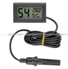 Mini LCD Digital Temperature Humidity Thermometer Outdoor Hygrometer Meter Probe