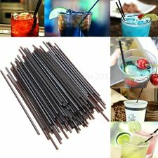 100X Food Plastic Mini Cocktail Straw Celebration Drinks Party Slim Sip Supplies