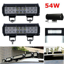"2X 54W 9""inch CREE LED Light Bar Combo Bumper Fog Lamp Offroad Jeep Boat 4X4 ATV"