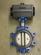 "NO NAME 092 1 MPA -20/80 °C 5"" STEEL AIR PNEUMATIC ACTUATED BUTTERFLY VALVE NEW"