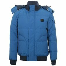 NWT Lacoste Mens Galaxie Down Hooded Winter Jacket Blue Large EU 54