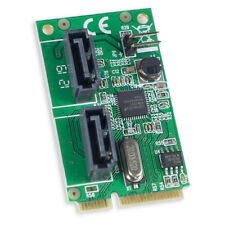 2-Port SATA 6G Card, Mini PCI-Express Form Factor, non-RAID, ASM1061 Chipset NEW