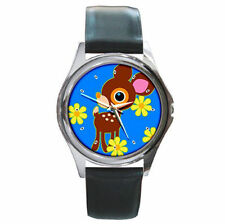 Sanrio deery-lou cheerful reindeer cute leather watch
