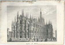 1849 DUOMO DI MILANO Pomba Ed. acquaforte su rame