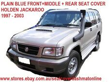 SEAT COVER FRONT+MIDDLE+REAR CUSTOM MADE,HOLDEN JACKAROO 98-03,BLUE