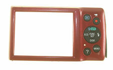 CANON IXUS 145 RED REAR COVER GENUINE USED KEY PAD