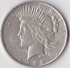 1922 'Peace' Dollar - USA Philadelphia Mint - 0.900 Silver