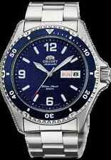 2016  Orient  Silver Men's Diver Watch Automatic Mako II  blue Dial W  Box