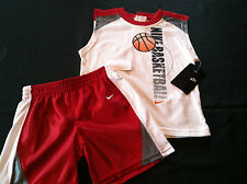 NeW with tags boys size sz 2t 24 months NIKE BaSketBaLL shorts shirt~set red