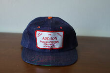 Vintage Addison Farm & Ind New Holland Case New Idea Patch Denim Trucker Hat