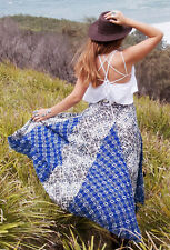 137298 NWD $128 Free People Show You Off Printed Asymmetrical High Low Skirt S