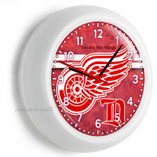 DETROIT RED WINGS HOCKEY TEAM LOGO WALL CLOCK MAN CAVE BOYS TV ROOM HOME DECOR
