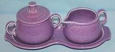 FIESTAWARE  Fiesta Ware  LILAC ~ Cream & Sugar w/Tray 3pc.set ~ Homer Laughlin