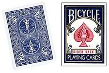 Blank Face Bicycle Card Deck Blue back Gaff Magic Trick Playing Cards Rider