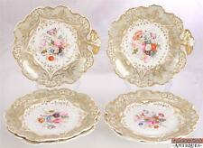 c1830s Davenport Manufacturer Their Majesties 6 Pc Hand Painted Plates Bowls 298