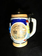 Pepper Shaker Stein Novelty Paul Bunyan Babe Blue Ox Bemidji, MN Souvenir Japan