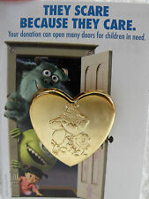 2012 Disney Pin Variety Pixar's Monsters Inc Mike & Sulley Gold Tone Heart