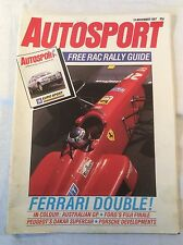Autosport 19th November 1987 Inc. Australian GP, Brno, World Touring Cars