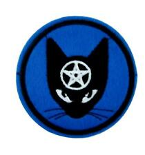 Black Cat Pentagram Patch Iron on Applique Alternative Clothing Witchcraft Wicca