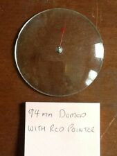 Barometer replacement glass - 94mm Domed with red pointer
