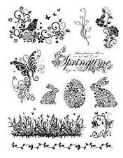 Viva Decor Clear Stamps - Springtime & Easter Bunnies - 014 - Cardmaking - NEW