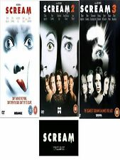 SCREAM TRILOGY 1-3 DVD Set Part 1 2 3 Ves Craven Horror Movie Film Brand New UK