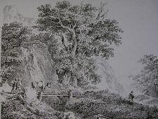 MARTIN VON MOLITOR ´DIE KUH AUF DER HÖLZERNEN BRÜCKE; LANDSCAPE´ N. 38; 1795