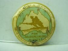 1917 Australia Day pin back badge 'For Soldiers, Sailors and Nurses'  437