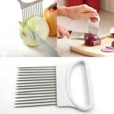 Edelstahl Zwiebelhalter Slicer Gemüse Werkzeuge Zwiebelschneider Küchenhelfer