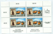 Austria 1999 stamp and postvan minisheet sheet mint