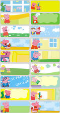 24 PEPPA PIG Personalised Name Sticker,Label,Tag