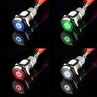 16mm 12V Auto KFZ Schalter Drucktaster Taster Druckschalter LED Beleuchtet