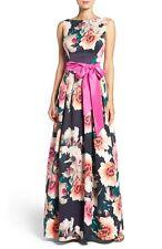 ELIZA J FLORAL PRINT FALLIE PRINT BALLGOWN DRESS sz  12