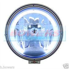 "SIM 9"" INCH LED ANGEL EYE BLUE LENS HALOGEN SPOTLIGHT TRUCK LORRY VAN CAR 4X4"