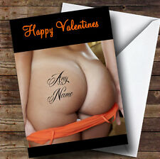 Sexy Bum Tattoo Personalised Valentines Greetings Card