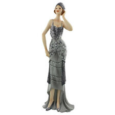 "Art Deco Midnight Shimmer ""Lavinia"" Lady Figurine Statue 60821"