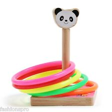 Child Wooden Cast Ring Throwing Game Classic Ringtoss Outdoor Fun Sports Toy